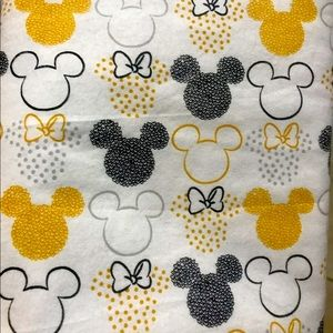 Mickey Flannel Fabric by the yard 100% cotton